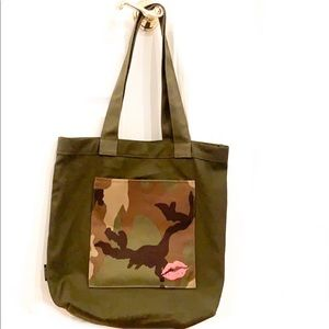 NEW! Bloomingdale's Army Fatigue Tote Bag